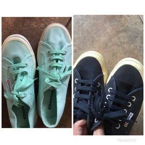 2 Pair Of Superga Shoes